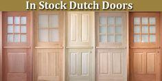 Dutch Door with Screen | In Stock Dutch Door