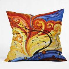 Amazon.com: DENY Designs Madart Whirlwind Throw Pillow, 18-Inch by 18-Inch: Home & Kitchen
