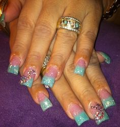 Acrylic nails by Rosie Ortega