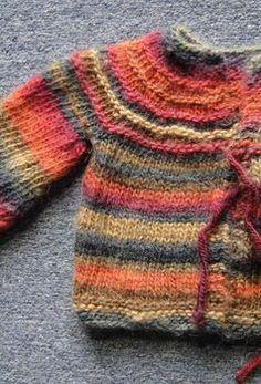 Baby Jacket - 5 hour baby sweater - free knitting pattern - Crystal Palace Yarns