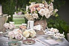 vintage glam wedding reception decor