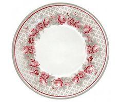 """GreenGate Kuchenteller """"Small plate Shirley linen"""" D: 15 cm"""