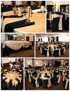 Black Gold Party Great Black and Gold Tables for a Wedding or a Birthday Party! Great Gatsby Wedding, Gatsby Theme, Gold Wedding, Wedding Table, Wedding Ideas, Wedding Colors, Wedding Dj, Trendy Wedding, Prom Decor