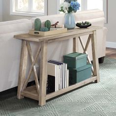 Better Homes & Gardens Granary Modern Farmhouse Console Table, Multiple Finishes - Walmart.com - Walmart.com Navy Blue And Grey Living Room, Living Room Grey, Entryway Table With Storage, Entryway Tables, Display Shelves, Storage Shelves, Display Ideas, Outdoor Console Table, Country Shelves