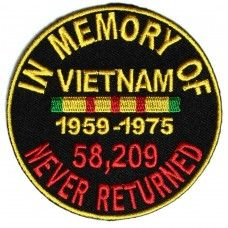 In Memory of Vietnam Round Patch
