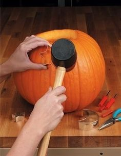 Great pumpkin carving tip - use cookie cutters to cut out shapes!