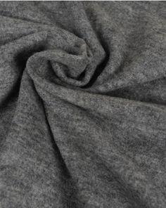 Boiled Wool Blend Jersey Fabric | Grey Marl | Truro Fabrics