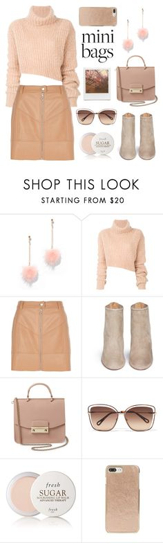 """""""Cute Mini Bags"""" by pure-vnom ❤ liked on Polyvore featuring New York & Company, Ann Demeulemeester, River Island, Aquazzura, Furla, Chloé, Fresh, Impossible Project, Kate Spade and minibags"""