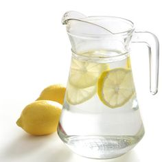 Water with lemon is tasty, healthy and helps keep your liver and kidneys going strong. Also fabulous for your skin-you get the benefits of your hydration AND the Vitamin C from the lemons.