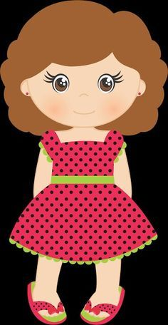 Felt Dolls, Paper Dolls, Applique Designs, Quilting Designs, Disney Clipart, Girl Clipart, Watermelon Birthday, Kids Scrapbook, School Decorations