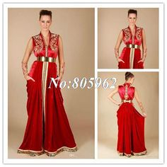 fb933550a5 Find More Evening Dresses Information about 2014 New Arrival V Neck Golden  Lace Embellishment Red Shiny