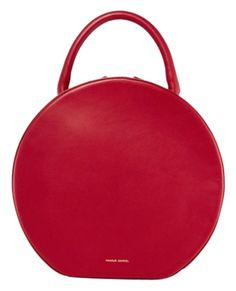 Mansur Gavriel Rococo Leather Circle Red Red Burgundy Tote Bag. Get one of  the 6b9860466d7cd