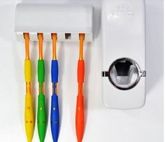 Automatic Toothpaste Dispenser and Tooth Brush Holder Set - White Creative http://www.amazon.com/dp/B007JD6M7G/ref=cm_sw_r_pi_dp_dCZYvb12XJK2N