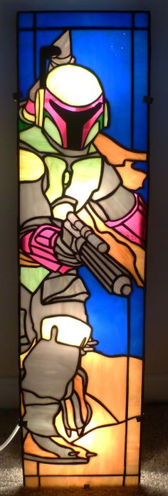 Star Wars Boba Fett Stained Glass Window by ~mclanesmemories