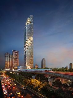 The MahaNakhon skyscrapper located in Bangkok Thailand. at 314meters it is the tallest building in Bangkok. Rooms cost between 1 and 11 million$ USD.
