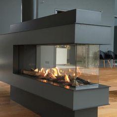 Modern Gas Fireplace Gallery - European Home Direct Vent Gas Fireplace, Vented Gas Fireplace, Home Fireplace, Fireplace Remodel, Fireplace Design, Gas Fireplaces, Fireplace Ideas, Contemporary Gas Fireplace, Fireplace Gallery