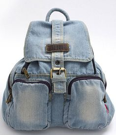 Vintage Diamante Denim Backpack | Chicnova Bags | Pinterest ...