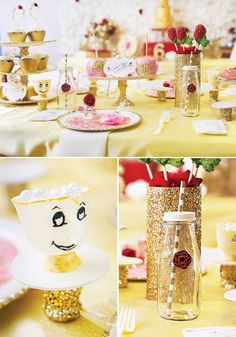 Beauty And The Beast Birthday Party Ideas | Themed Birthday Parties,  Parties Food And Plastic Table Cloths