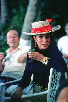 Maria Felix on vacation in Acapulco c. 1980