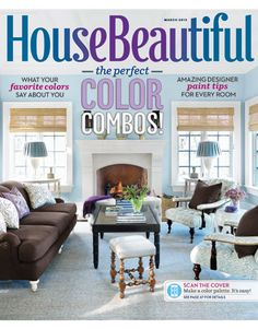 March 2013 cover. housebeautiful.com. #house_beautiful #magazine_cover