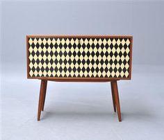 Small danish storage board/bar in teak. 1950'ties. Unknown.