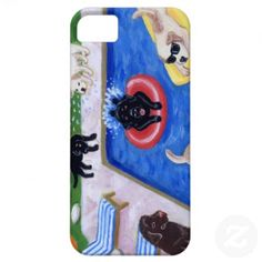Pool Party Labradors Fun Painting iPhone 5 Cover
