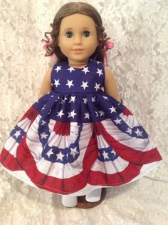 e78834eb569 July 4th Border   Doll Dress fits 15