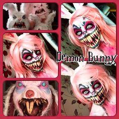 Demon Bunny by Jodie Broadley #scary #Halloween #makeup