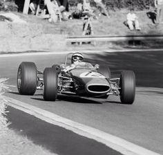 Jochen Rindt winning the F2 Rouen GP 1967. Brabham BT23FVA (unattributed)...