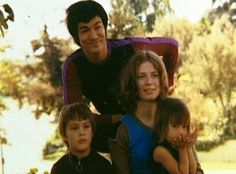 Bruce Lee family,Wife Linda,Son Brandon Lee,Daughter Shannon Lee
