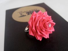 CUTE!!! Duct tape flower ring by TwistedTape on Etsy, $7.99