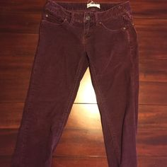 Free People purple corduroy skinny jeans Great condition, no visible stains or rips, very comfortable, color matches first pic the lighting in my dining room is off Free People Jeans Skinny