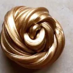 #slime #fluffyslime #gold #slimelovers #like4like ⭐️credit: @galaxyofslimee