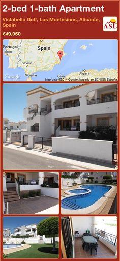2-bed 1-bath Apartment in Vistabella Golf, Los Montesinos, Alicante, Spain ►€49,950 #PropertyForSaleInSpain