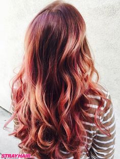 Gorgeous Rose Gold Copper Fluid Hair Painting