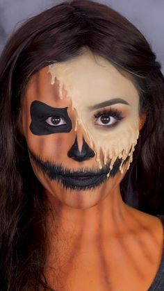 Amazing Halloween Makeup, Halloween Eyes, Halloween Make Up Scary, Simple Halloween Makeup, Disney Halloween Makeup, Edgy Makeup, Crazy Makeup, Fox Makeup, Clown Makeup Tutorial