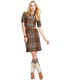 Cotton Madras Dress: Skirts and Dresses   Free Shipping at L.L.Bean