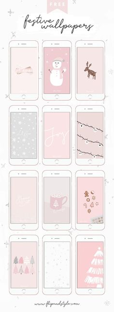 FREE Christmas iPhone wallpaper and desktop backgrounds to download ♡