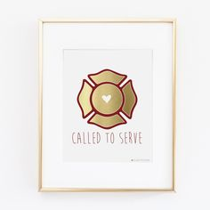 Fire Fighter Gift   Firefighter Wife   Called To Serve Printable Art   Fire Fighter Girlfriend Fire Fighter Wedding   Instant Download by alwaysyesterday on Etsy