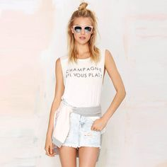2d14936e34cd Womenfashion Casual Letter Printed Sleeveless O Neck Loose Female Blouse  Tank Top Harajuku Women T shirts-in Tank Tops from Women's Clothing &  Accessories ...