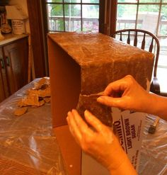 How to Make A Dress-up Trunk from A Repurposed Cardboard Box