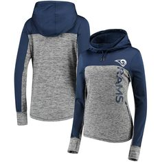 5883fd530 Women s G-III 4Her by Carl Banks Gray Navy Los Angeles Rams Sideline  Pullover Hoodie