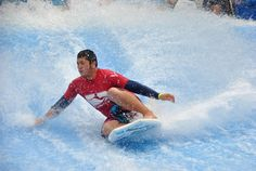 Feel the cool water breeze across your face as you ride a wave on our FlowRider! #ThisIsMyBeach