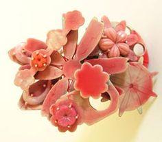 Cally Creates: Helen Britton pink art jewelry jewellery