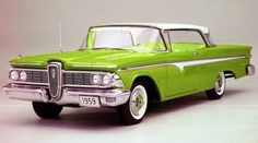Cars - Edsel - Year by Year with pictures, info and prices. Come relive these fabulous automobiles. Ford Motor Company, Vintage Cars, Antique Cars, Edsel Ford, American Classic Cars, Car Buyer, Future Car, Old Trucks, Drag Racing