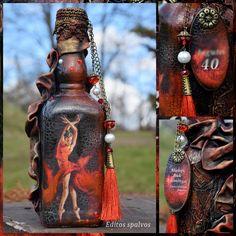 Decoupage bottle