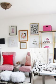 Meagan Ward's Girly-Chic Home Office {Office Tour} | The Office Stylist: