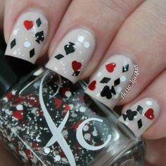 Off With Her Head, Inspired by Alice in Wonderland. Queen Of Hearts Nail Polish