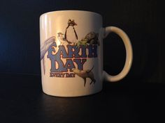 Earth day, everyday  vintage mug on Etsy, $9.00