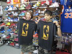 【新宿2号店】2014.09.02 バスケットをやられているカップルのお客様です。ペアルックがとてもお似合いです。また遊びに来てくださいね!